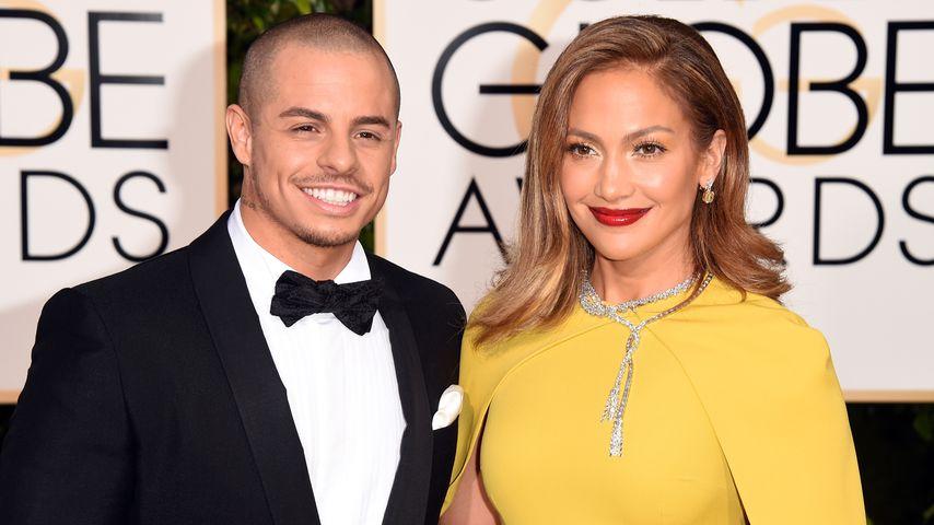 Casper Smart und Jennifer Lopez im Januar 2016