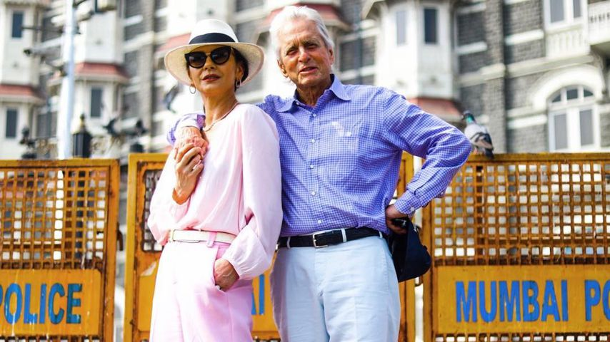 Catherine Zeta Jones und Michael Douglas in Indien