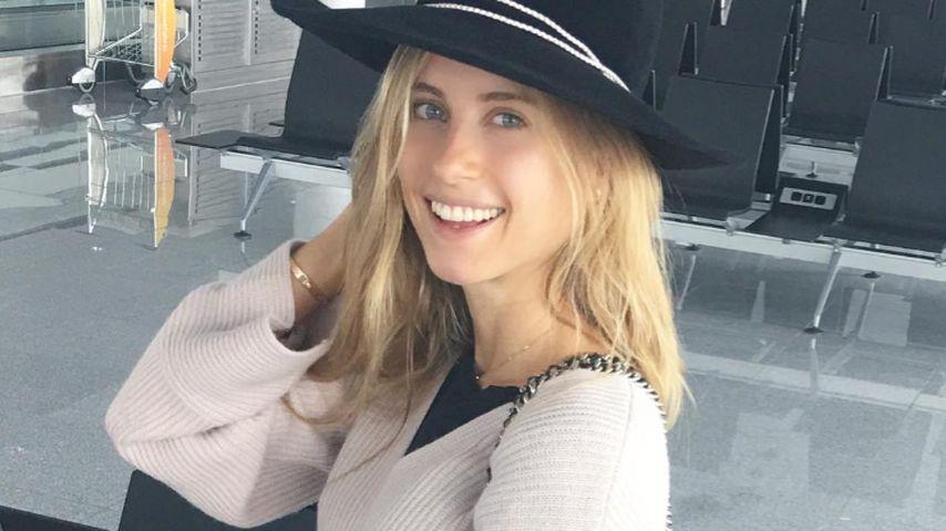 Cathy Hummels am Flughafen in München
