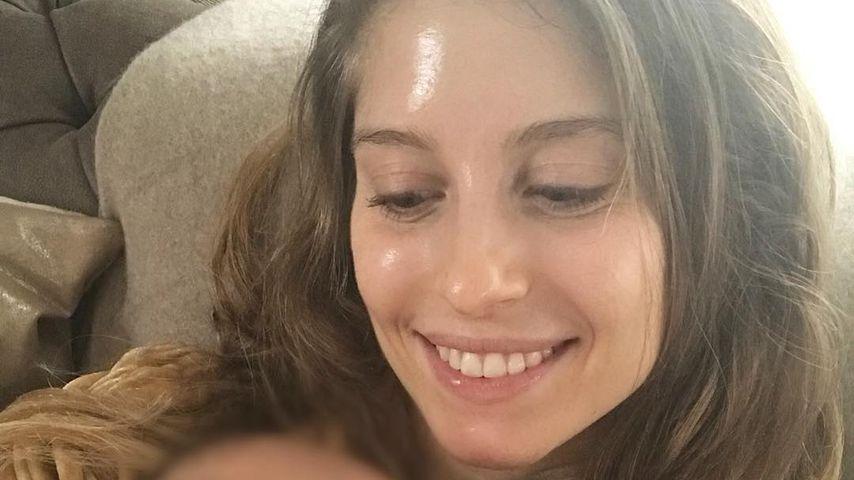 Cathy Hummels und ihr Baby, Februar 2018