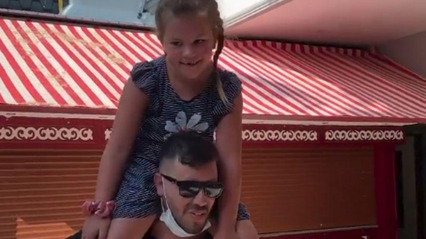 Celina-Sophie Wollny und Papa Florian