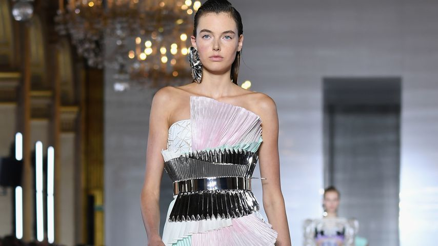 Céline Bethmann bei der Balmain Fashion Show