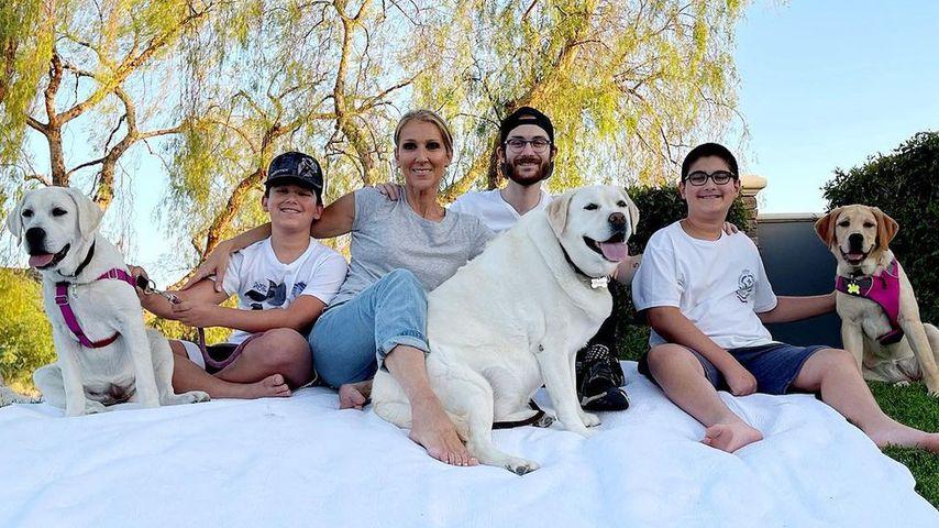 Ungewohnt: Céline Dion zeigte am Muttertag ihre drei Söhne