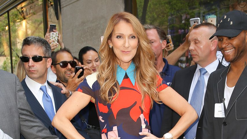 Celine Dion vor den NBC-Studios in New York