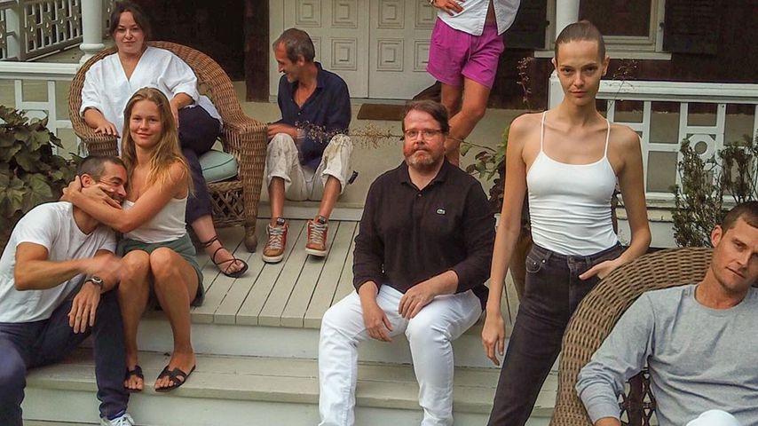 Chace Crawford und Anna Ewers (beide ganz links) mit ihren Freunden