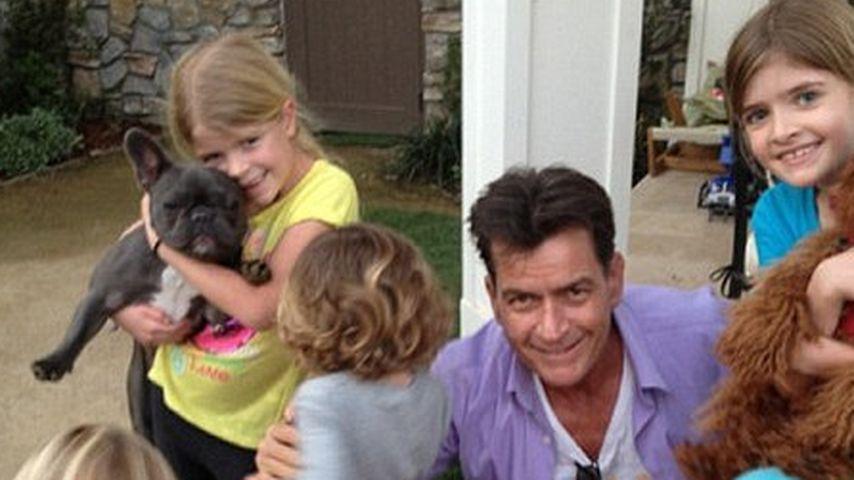 Idylle: Charlie Sheen mit seinen süßen Kindern