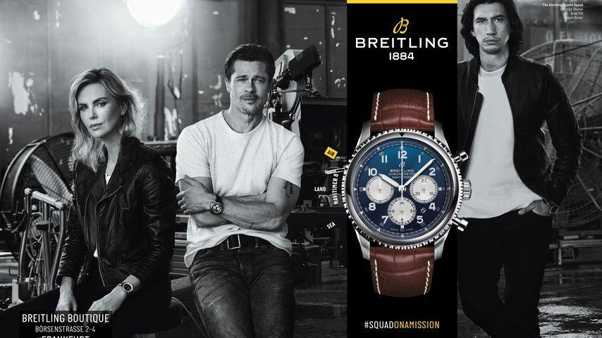 Charlize Theron und Brad Pitt als Werbegesichter von Breitling