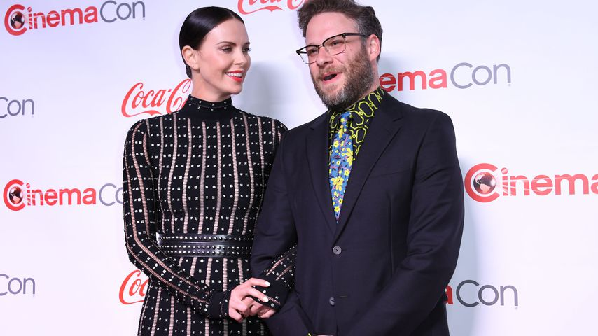 Charlize Theron und Seth Rogen im April 2019
