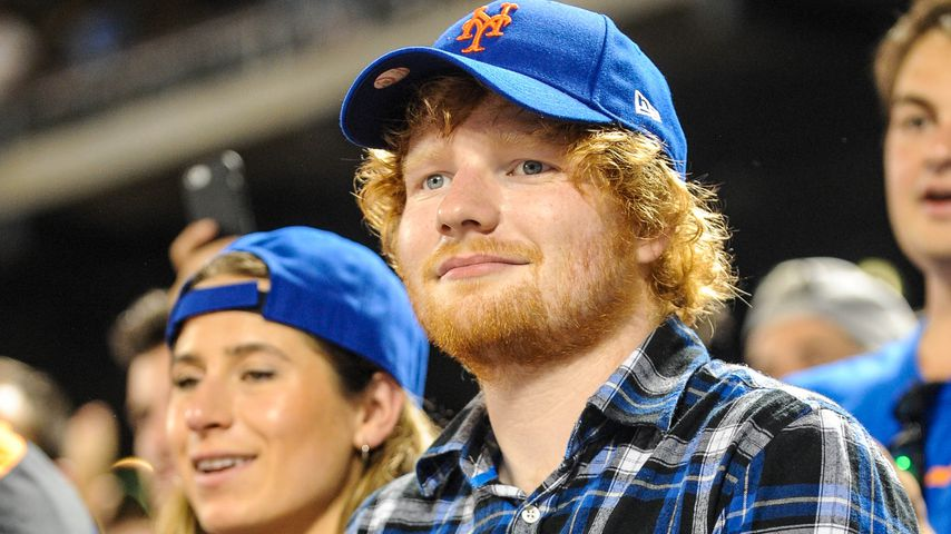 Cherry Seaborn und Ed Sheeran bei einem Baseball-Spiel im September 2015