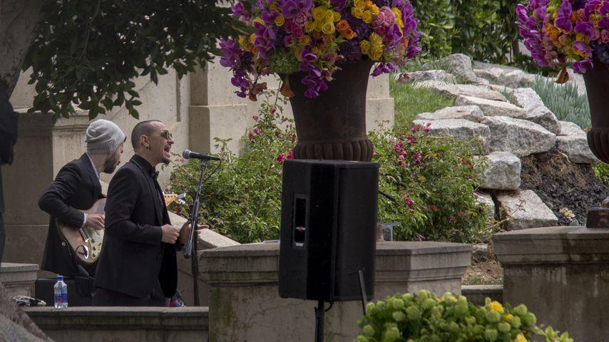 Chester Bennington bei der Trauerfeier von Chris Cornell