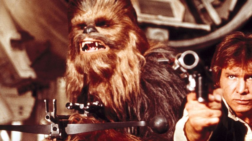 "Chewbacca und Harrison Ford in ""Star Wars"""