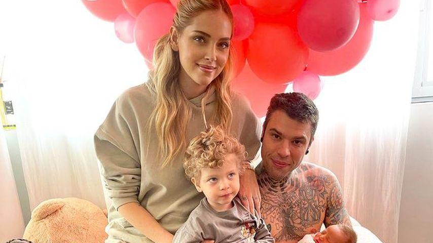 Chiara Ferragni und Fedez mit ihren Kindern Leone und Vittoria