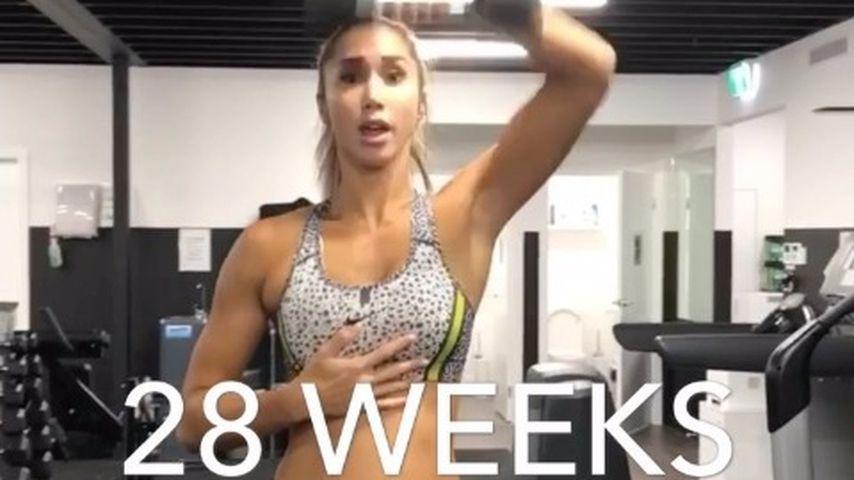 Fast im 8. Monat! Fitness-Mom Chontel schockt mit Workout!
