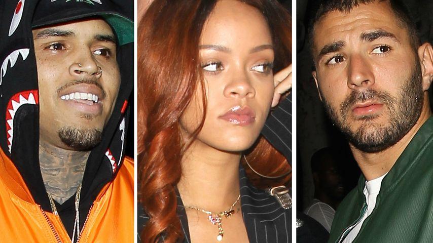 Nanu? Rihanna und ihr Neuer feiern mit Ex Chris Brown