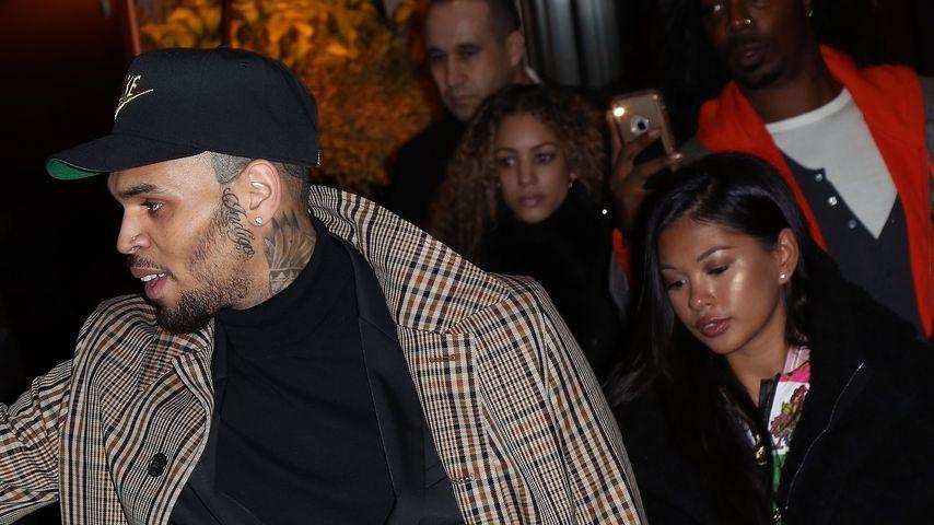 Sänger Chris Brown und Ammika Harris