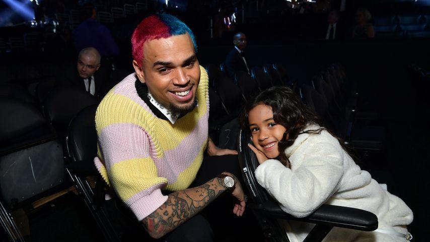 Chris Brown und seine Tochter Royalty im Januar 2020 in Los Angeles