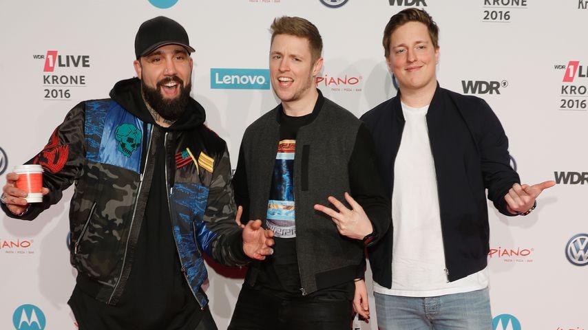 Chris, C-Bas und Phil von Bullshit TV bei der 1Live Krone 2016