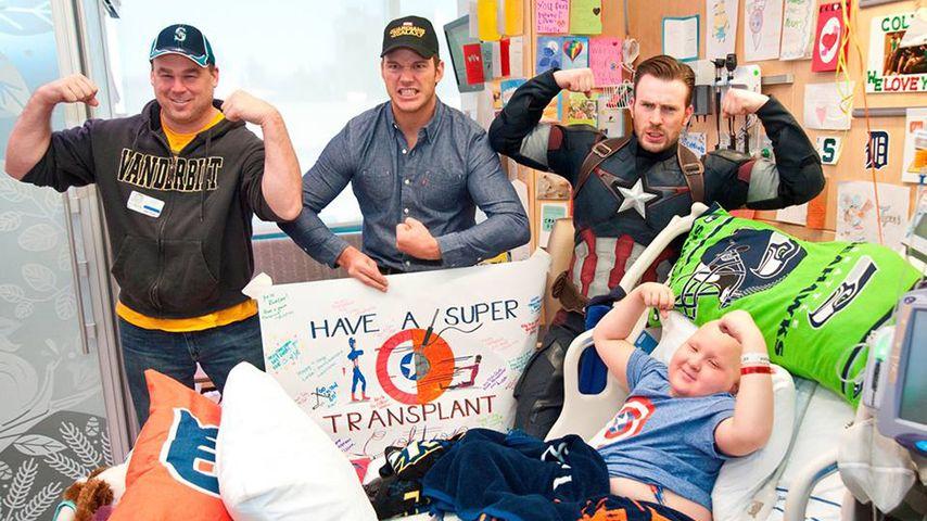 Helden-Duo! Pratt & Evans machen Kids glücklich