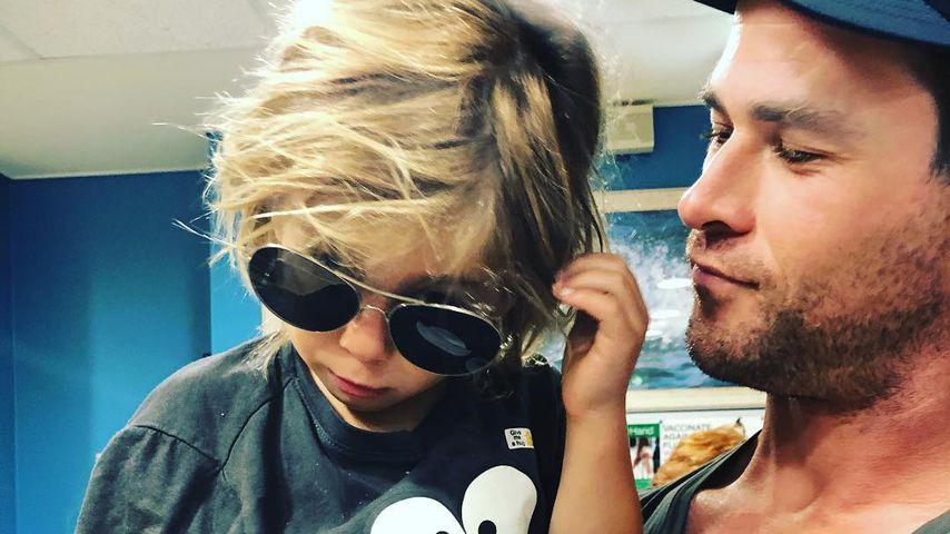 Chris Hemsworth mit seinem Sohn