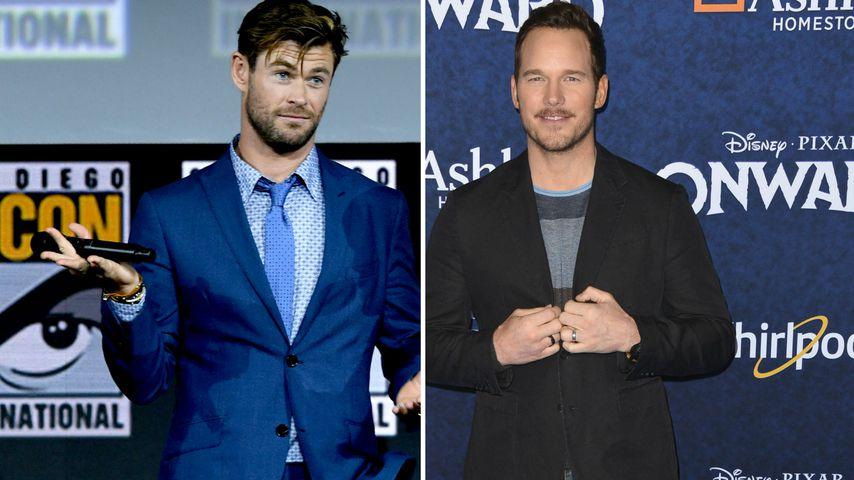 Wegen Muckis: Chris Hemsworth schüchtert Chris Pratt ein