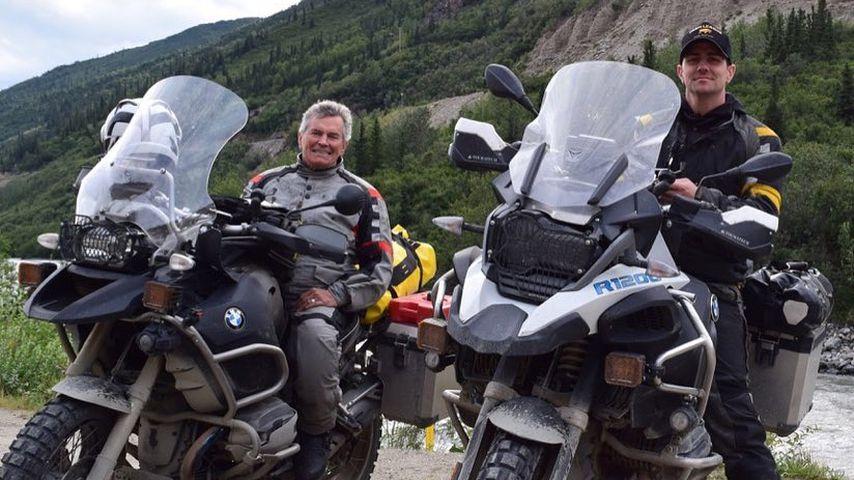 Chris Long (l.) und sein Vater Herbert bei einer Motorrad-Tour