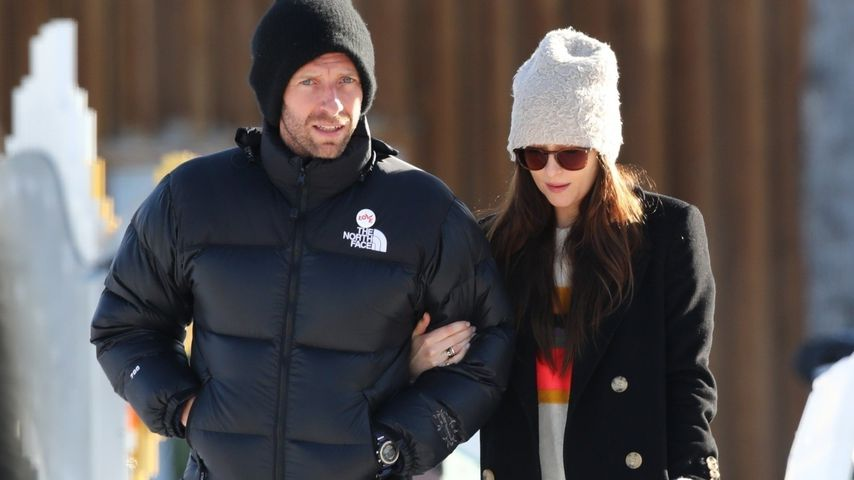 Chris Martin und Dakota Johnson in Aspen