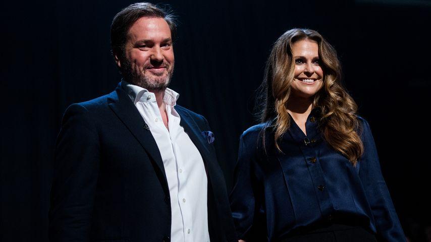 Chris O'Neill und Madeleine von Schweden in einer Talkshow