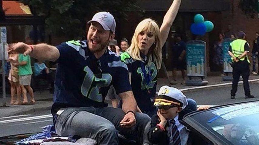 Chris Pratt, Anna Faris und ihr Sohn Jack