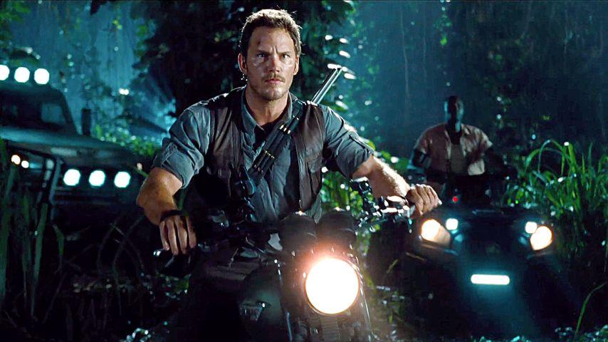 """Chris Pratt in einer Szene von """"Jurassic World"""""""