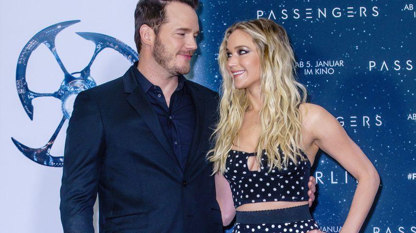 "Chris Pratt und Jennifer Lawrence im Hotel ""Adlon"" in Berlin"