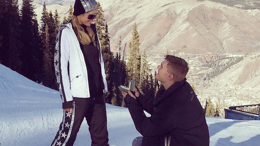Paris Hilton und Chris Zylka bei ihrer Verlobung