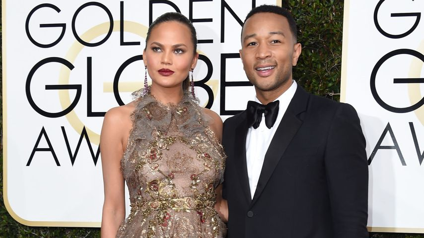 Chrissy Teigen und John Legend bei den Golden Globes 2017