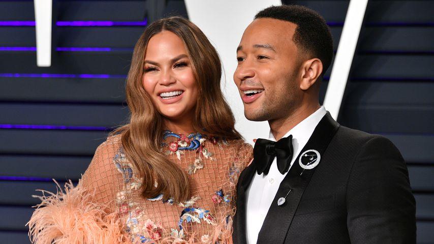 Chrissy Teigen und John Legend auf der Vanity Fair Oscar Party 2019