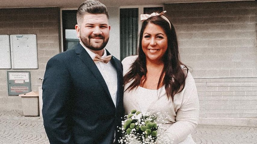 Christian Bochannek und Janina El Arguioui an ihrem Hochzeitstag