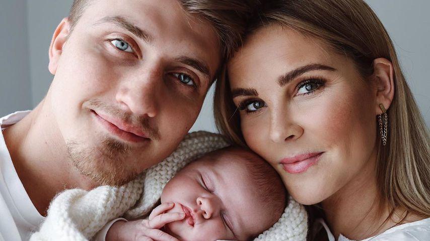 Christin Kaeber und Leons mit Töchterchen Nia
