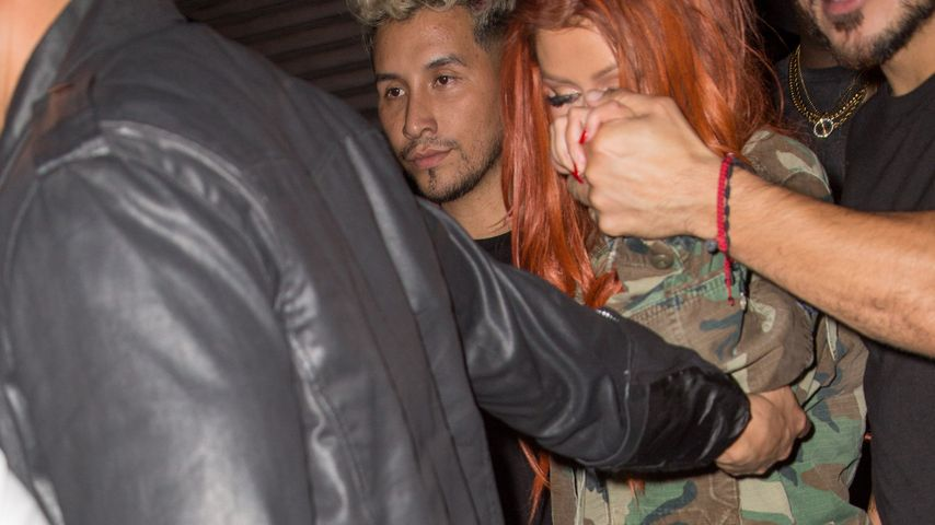 Christina Aguilera beim Verlassen eines Clubs in New York