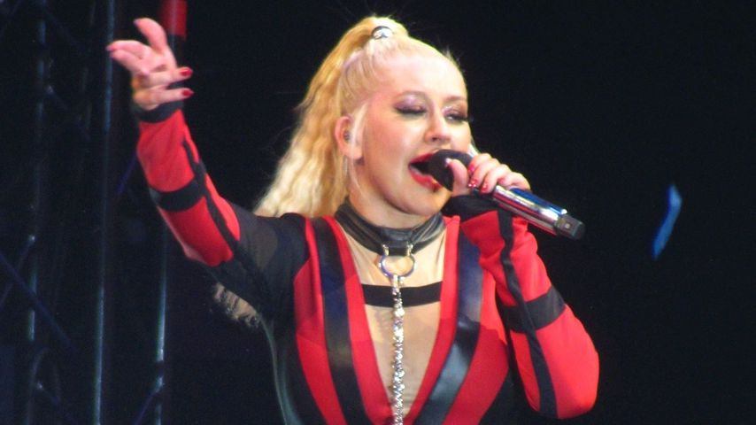 Christina Aguilera, bei einem Konzert in London, 2019