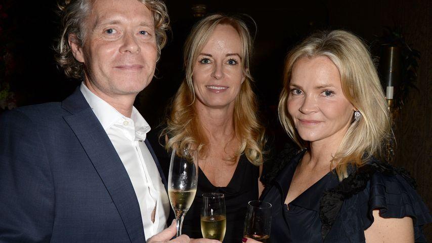 """Christina Knudsen (rechts) mit Freunden beim """"Farms Not Factories dinner"""""""