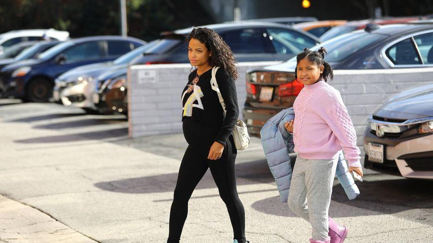 Schwangere Christina Milian: Tochter (9) fast genauso groß
