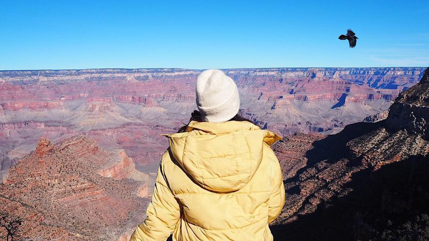 Chryssanthi Kavazi am Grand Canyon im US-Bundesstaat Arizona