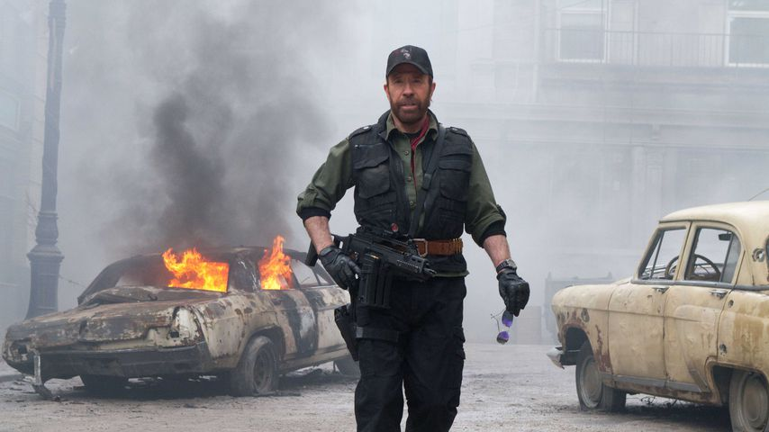 """Chuck Norris in """"The Expendables 2"""""""
