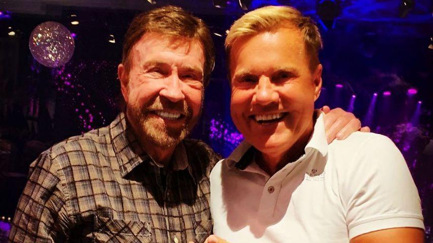 Chuck Norris und Dieter Bohlen auf einer Party