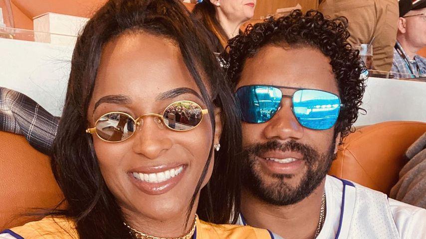 Ciara und ihr Ehemann Russell Wilson beim Super Bowl 2020
