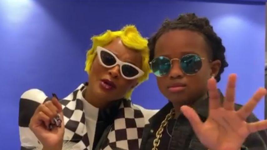 Ciara und ihr Sohn Future an Halloween 2020 als Cardi B und Offset