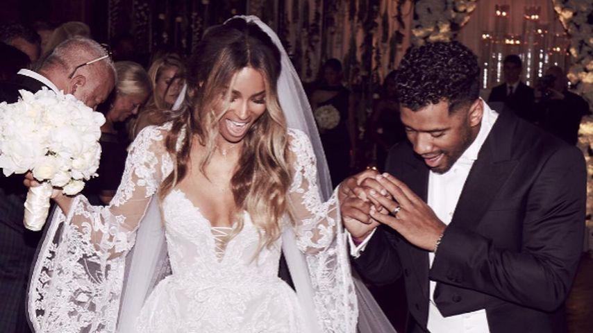 1. Hochzeitstag: Ciara & Russell feiern mit Future & Baby!