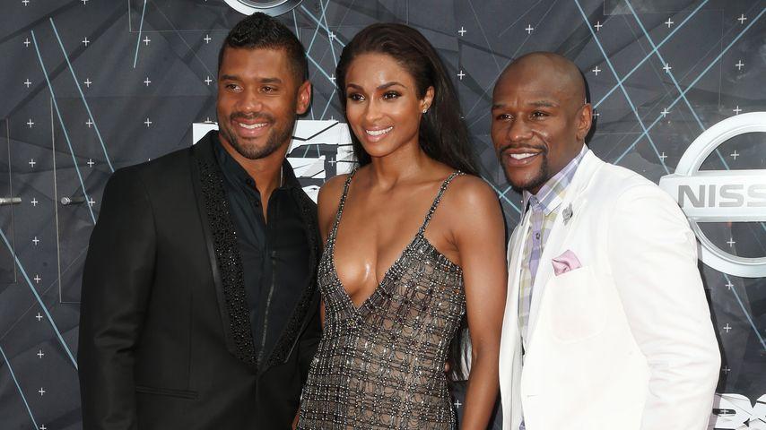 Ciara, Russell Wilson und Floyd Mayweather Jr.
