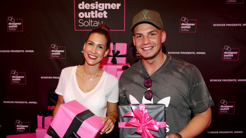 Clea-Lacy Juhn und Pietro Lombardi beim Late-Night-Shopping, August 2018