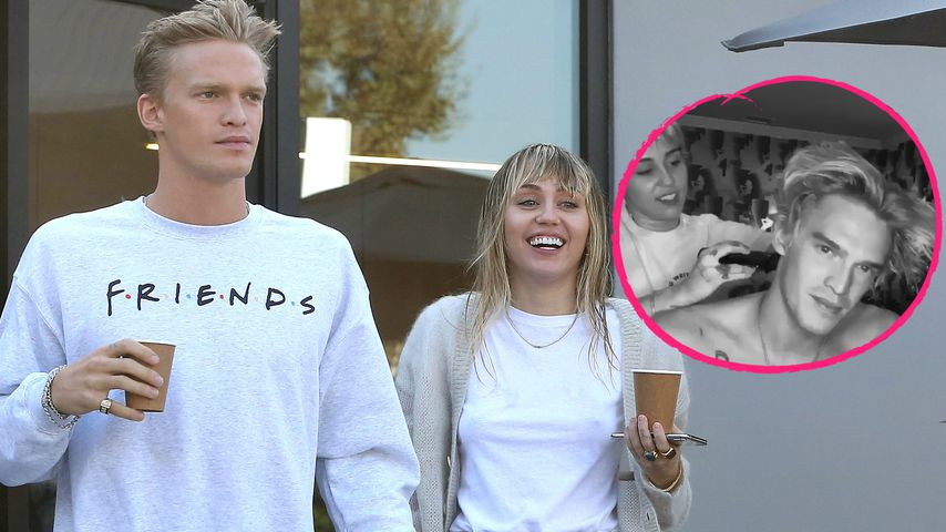 Home-Umstyling: Miley Cyrus rasiert Cody die blonde Mähne ab