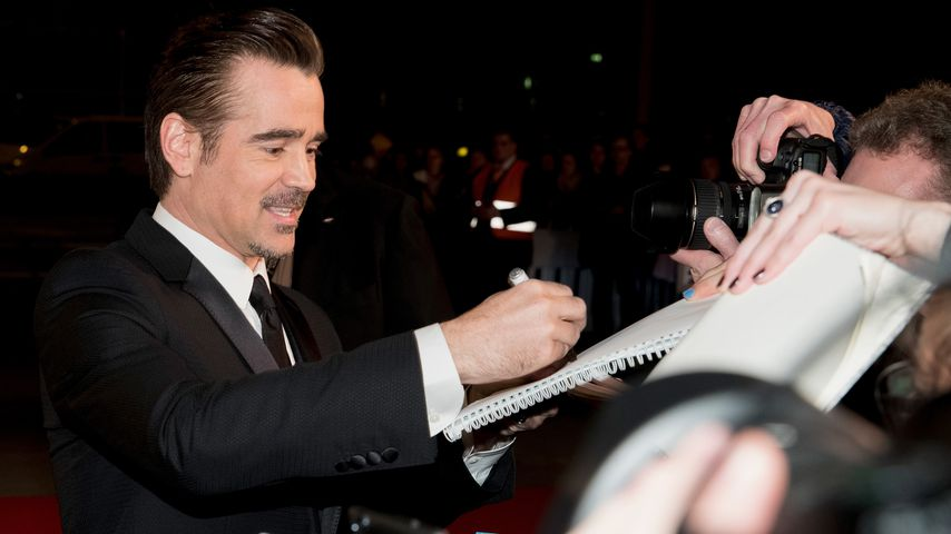 Huch! Colin Farrell kombiniert Schnauzer mit Wampe