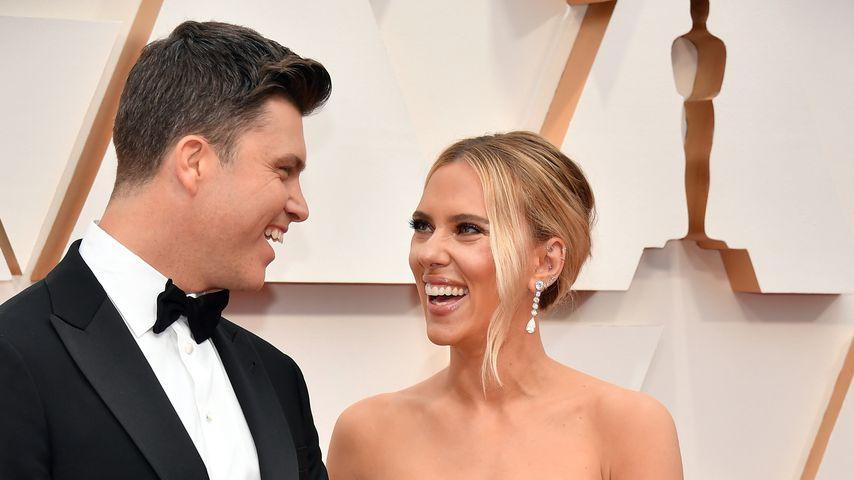 Colin Jost und Scarlett Johansson bei der Oscar-Verleihung 2020